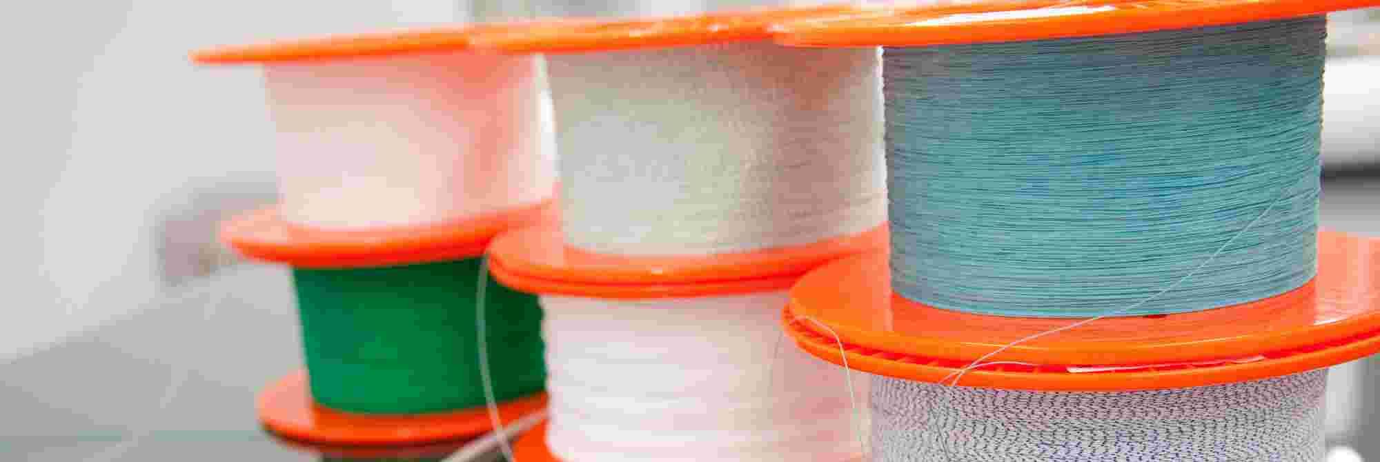 A spool of raw material