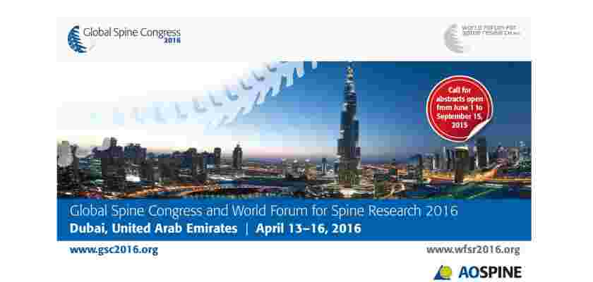 Global Spine Congress & World Forum for Spine Research, Dubai, United Arab Emirates